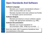 open standards and software