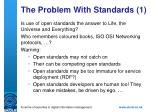 the problem with standards 1