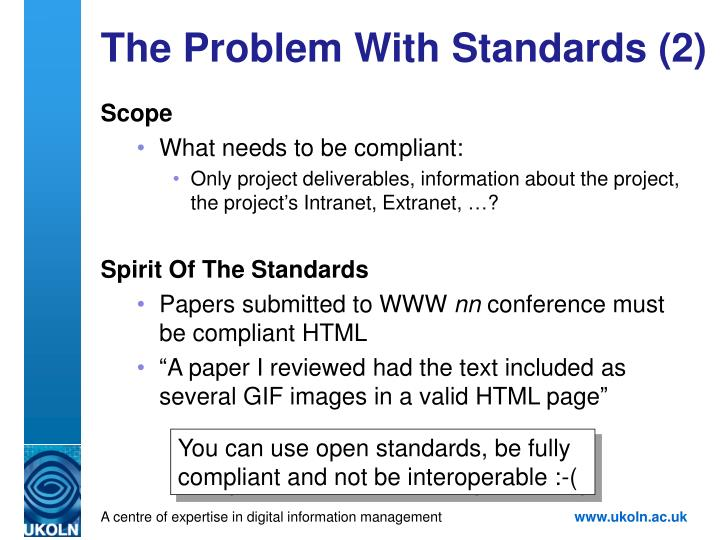 The Problem With Standards (2)