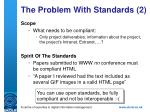 the problem with standards 2