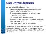 user driven standards