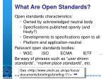 what are open standards