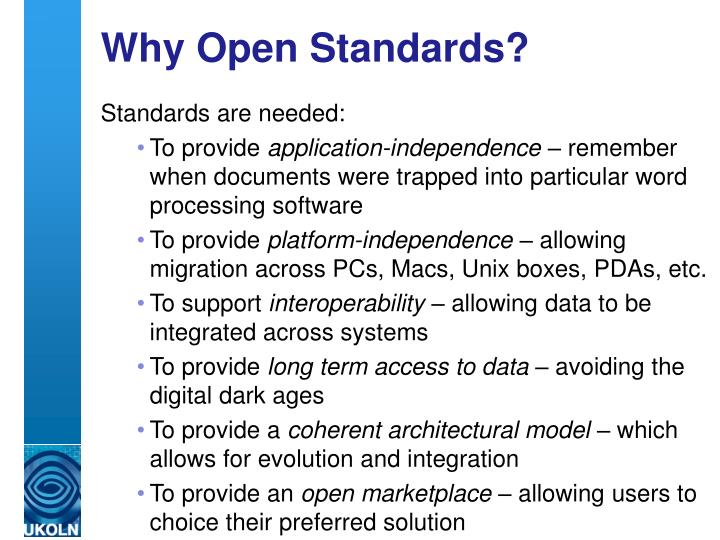 Why open standards