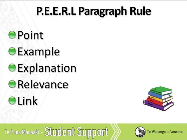 P.E.E.R.L Paragraph Rule