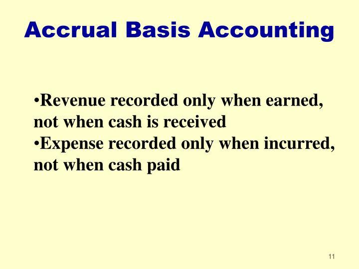 Accrual Basis Accounting