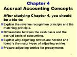 chapter 4 accrual accounting concepts