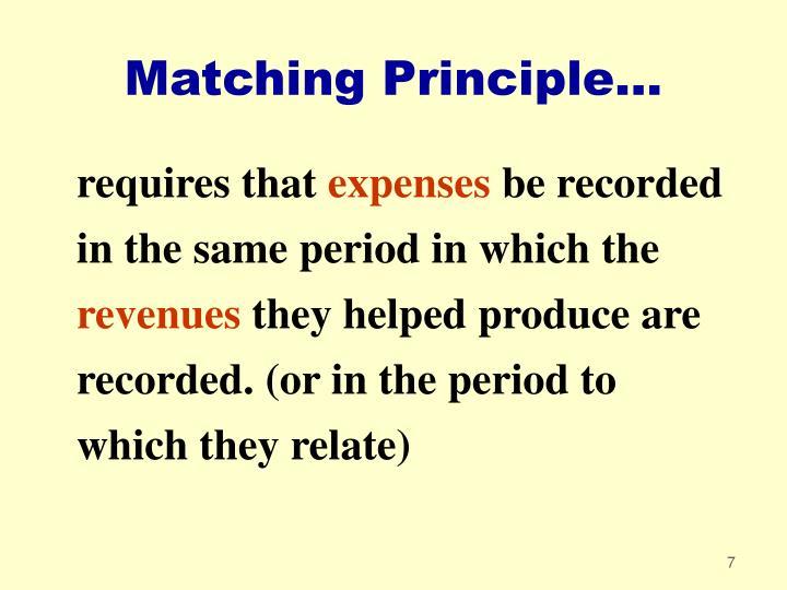 Matching Principle...