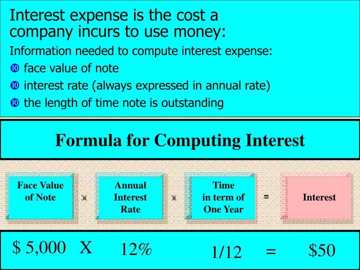 Formula for Computing Interest
