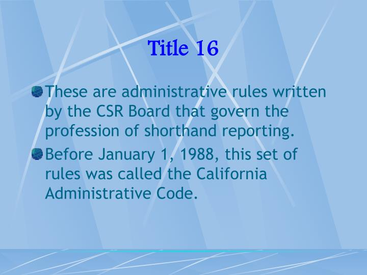Title 16