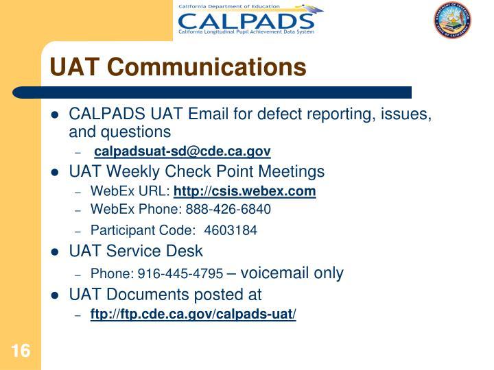 UAT Communications