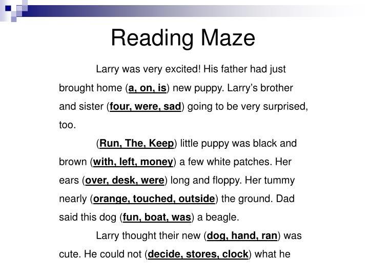 Reading Maze