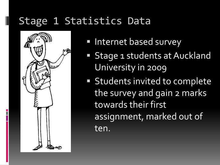 Stage 1 Statistics Data