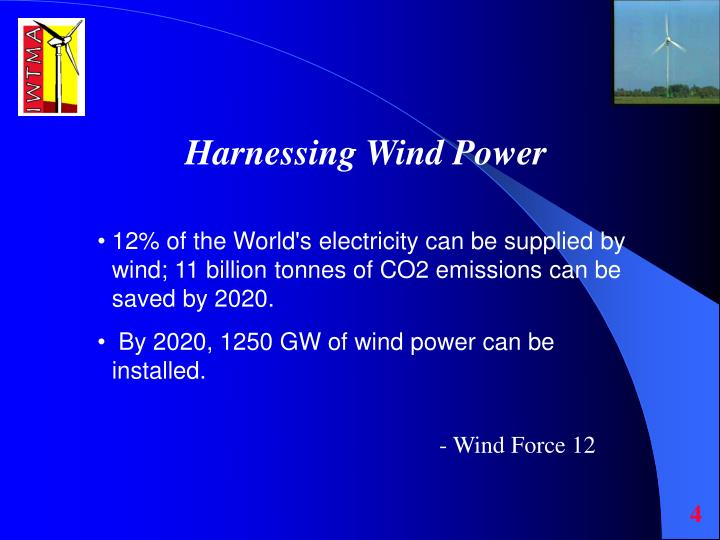 Harnessing Wind Power