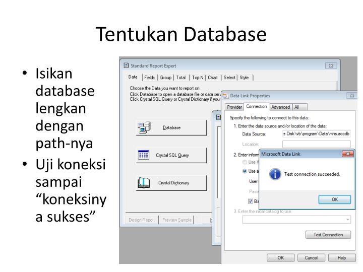 Tentukan Database