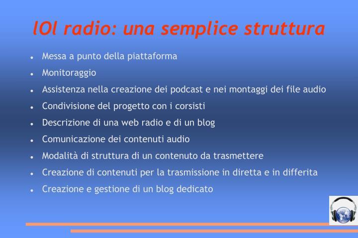 lOl radio: una semplice struttura
