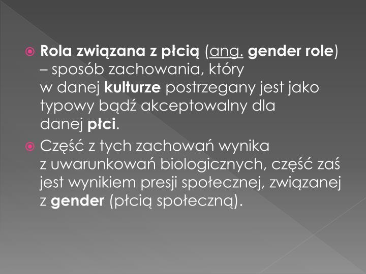 Rola związana z płcią