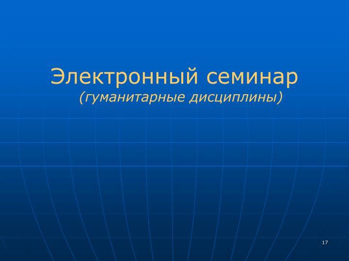 Электронный семинар