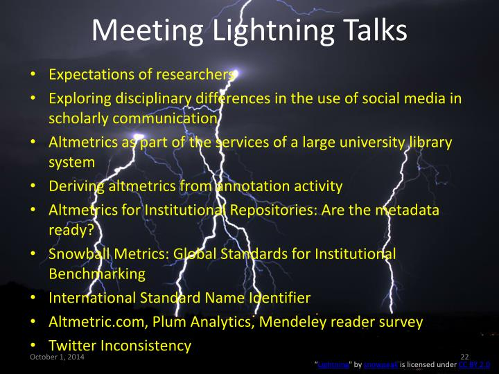 Meeting Lightning Talks