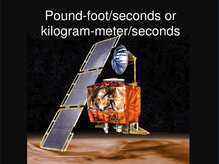 Pound-foot/seconds