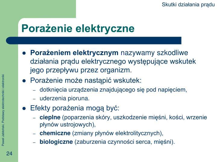 Skutki działania prądu