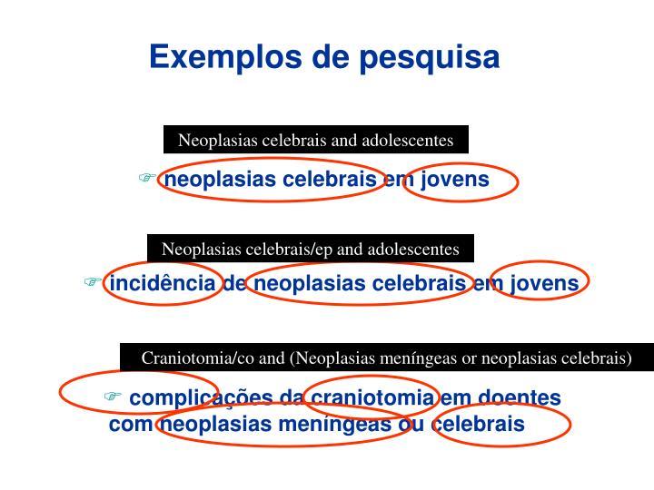 Exemplos de pesquisa