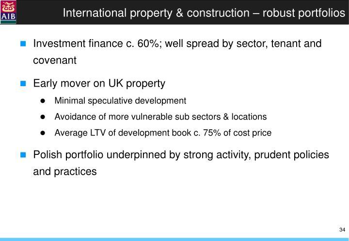 International property & construction – robust portfolios