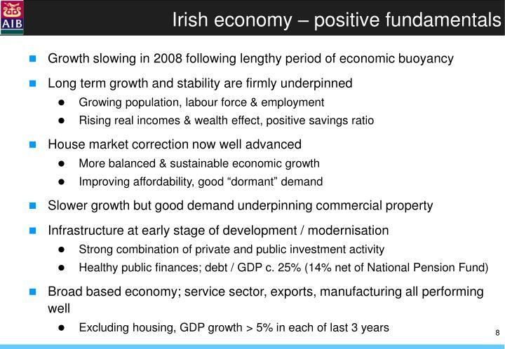 Irish economy – positive fundamentals
