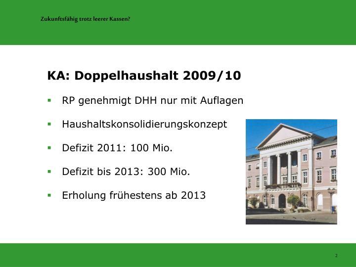 KA: Doppelhaushalt 2009/10