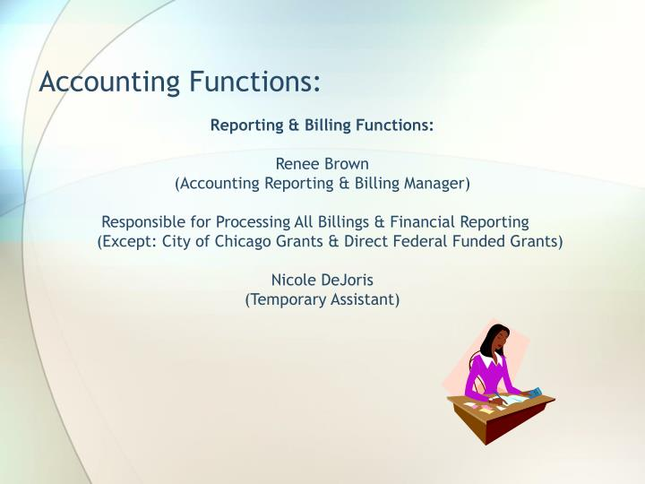 Accounting Functions: