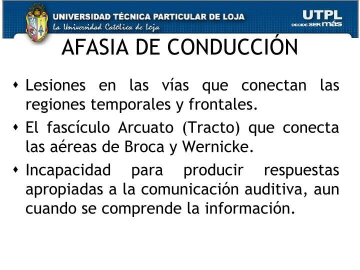 AFASIA DE CONDUCCIÓN