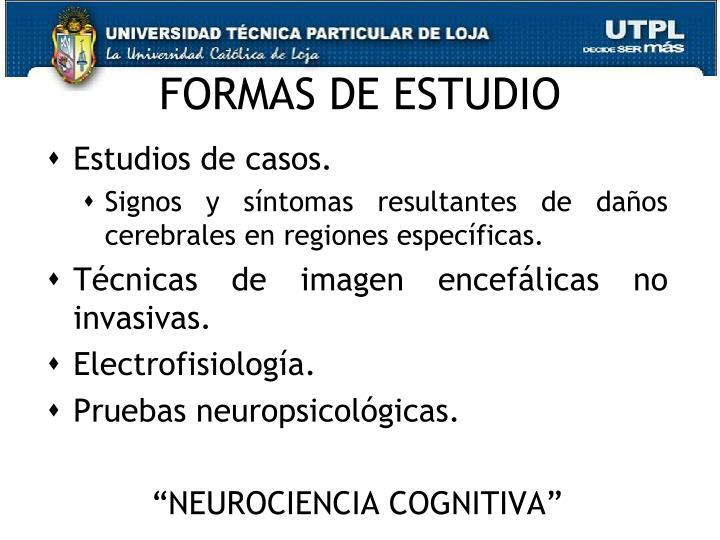 FORMAS DE ESTUDIO