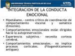 integracion de la conducta emocional