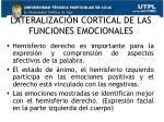 lateralizaci n cortical de las funciones emocionales