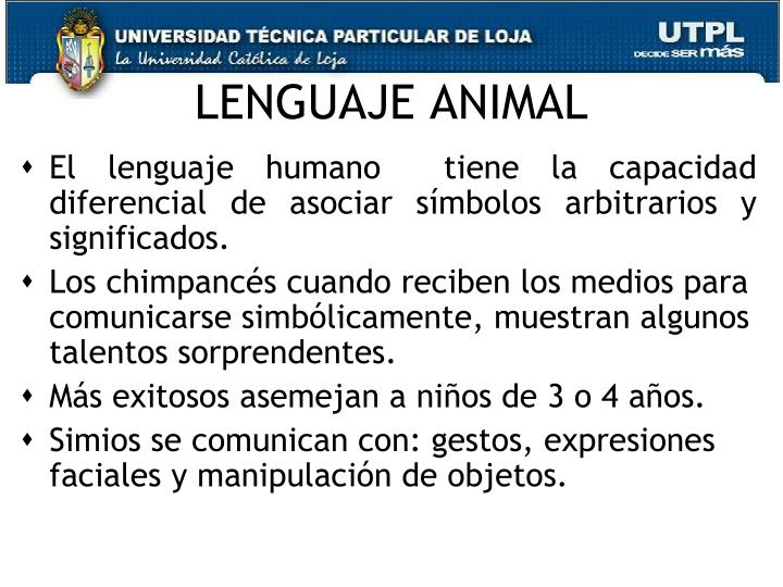LENGUAJE ANIMAL