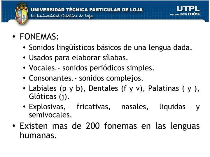 FONEMAS: