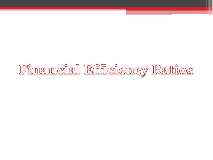 Financial Efficiency Ratios