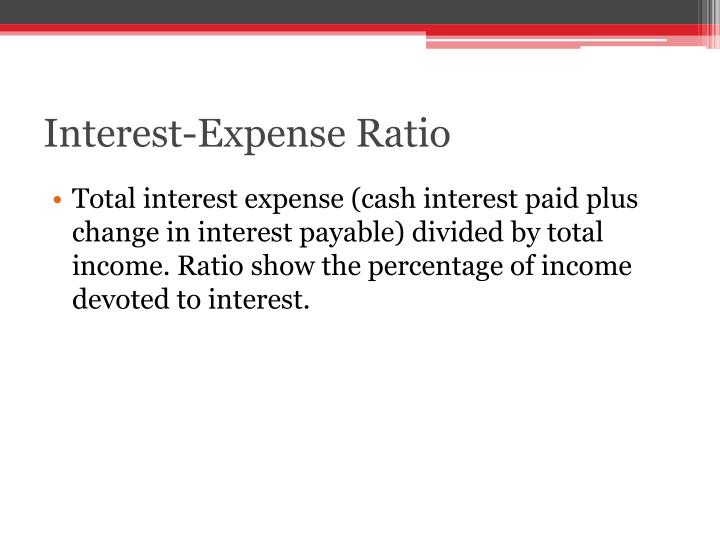 Interest-Expense Ratio