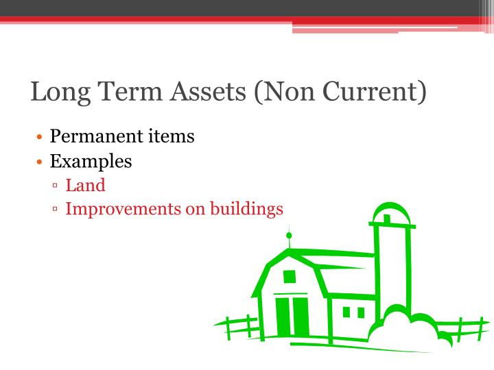 Long Term Assets (Non Current)