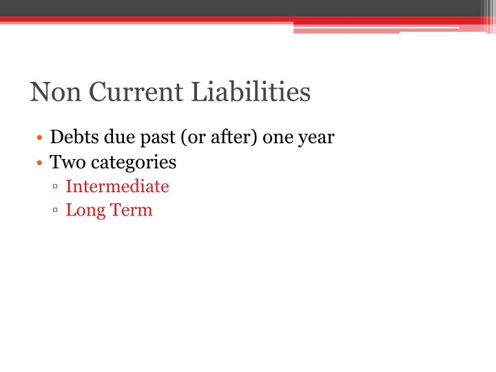 Non Current Liabilities