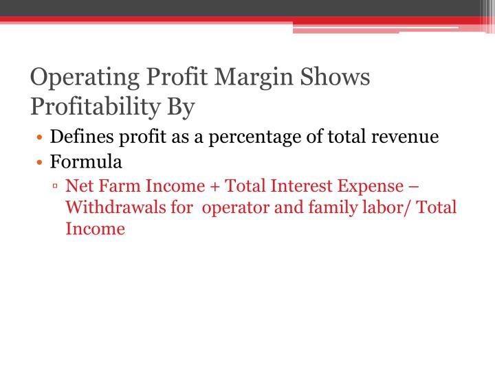 Operating Profit Margin Shows Profitability By