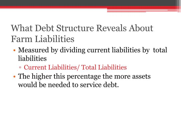 What Debt Structure Reveals About Farm Liabilities