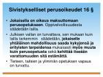 sivistykselliset perusoikeudet 16