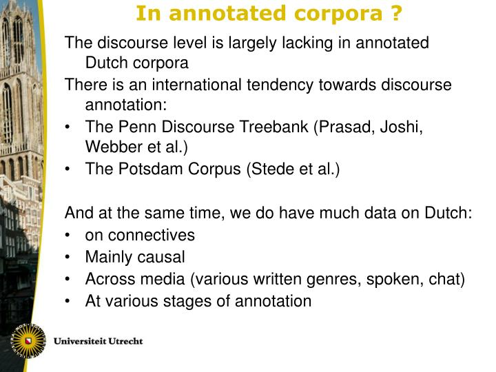 In annotated corpora ?