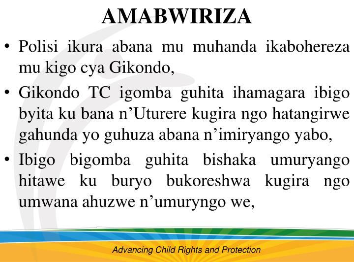 AMABWIRIZA