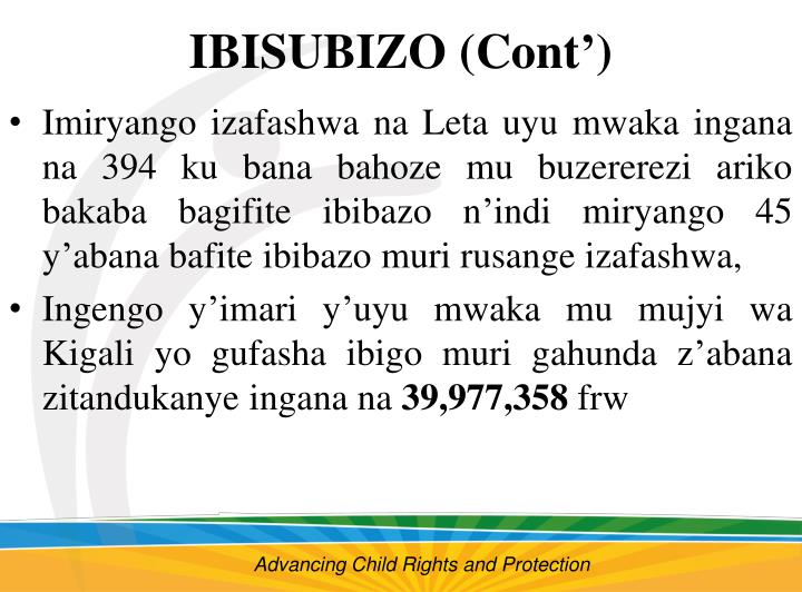 IBISUBIZO (