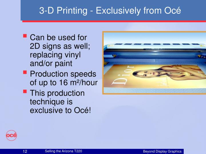 3-D Printing - Exclusively from Océ
