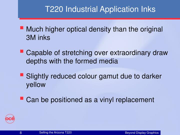 T220 Industrial Application Inks