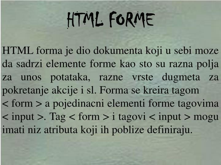 HTML FORME