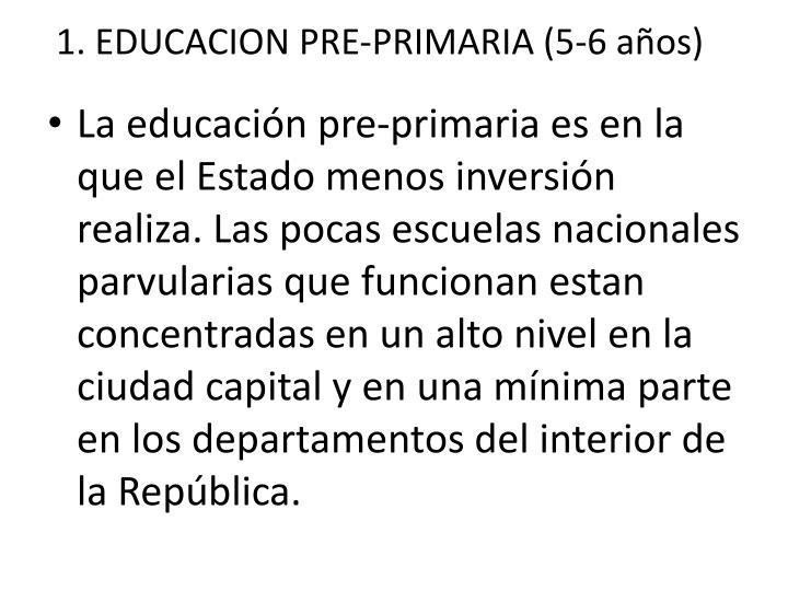 1. EDUCACION PRE-PRIMARIA (5-6 años)