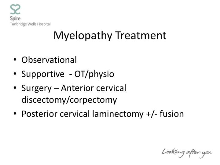 Myelopathy Treatment